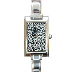 Abstract Flower Petals Floral Rectangle Italian Charm Watch