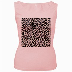 Abstract Flower Petals Floral Women s Pink Tank Top