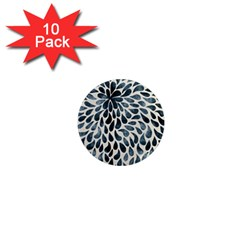 Abstract Flower Petals Floral 1  Mini Magnet (10 pack)