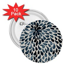 Abstract Flower Petals Floral 2 25  Buttons (10 Pack)