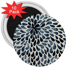 Abstract Flower Petals Floral 3  Magnets (10 Pack)