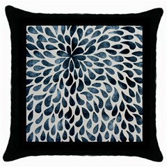 Abstract Flower Petals Floral Throw Pillow Case (Black)