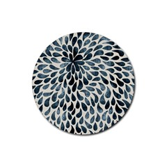 Abstract Flower Petals Floral Rubber Round Coaster (4 pack)