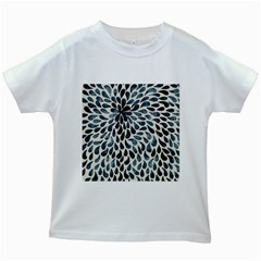 Abstract Flower Petals Floral Kids White T-Shirts