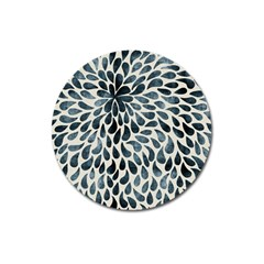 Abstract Flower Petals Floral Magnet 3  (round)