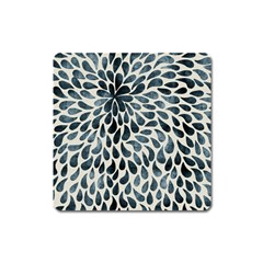 Abstract Flower Petals Floral Square Magnet