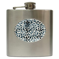 Abstract Flower Petals Floral Hip Flask (6 oz)