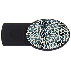 Abstract Flower Petals Floral USB Flash Drive Oval (1 GB)