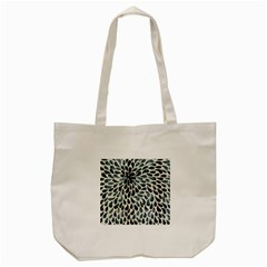 Abstract Flower Petals Floral Tote Bag (cream)