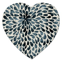 Abstract Flower Petals Floral Jigsaw Puzzle (Heart)