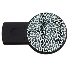 Abstract Flower Petals Floral USB Flash Drive Round (4 GB)