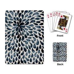 Abstract Flower Petals Floral Playing Card