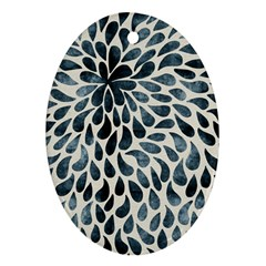 Abstract Flower Petals Floral Oval Ornament (two Sides)