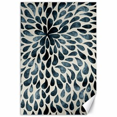 Abstract Flower Petals Floral Canvas 24  x 36