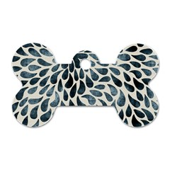 Abstract Flower Petals Floral Dog Tag Bone (One Side)