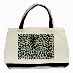 Abstract Flower Petals Floral Basic Tote Bag (Two Sides)