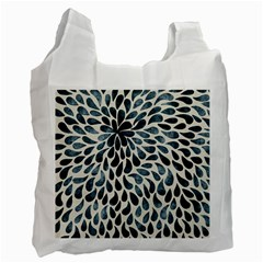 Abstract Flower Petals Floral Recycle Bag (Two Side)