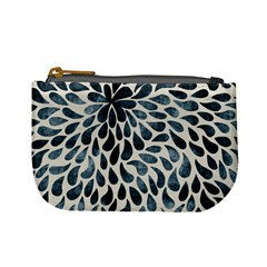 Abstract Flower Petals Floral Mini Coin Purses