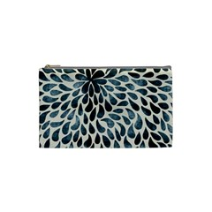 Abstract Flower Petals Floral Cosmetic Bag (small)