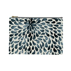 Abstract Flower Petals Floral Cosmetic Bag (large)