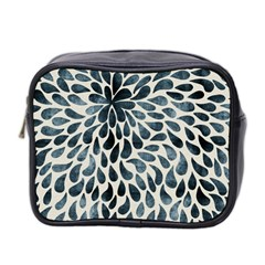 Abstract Flower Petals Floral Mini Toiletries Bag 2 Side