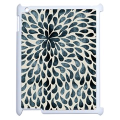 Abstract Flower Petals Floral Apple iPad 2 Case (White)