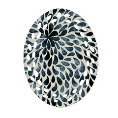 Abstract Flower Petals Floral Oval Filigree Ornament (Two Sides)
