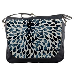 Abstract Flower Petals Floral Messenger Bags