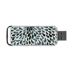 Abstract Flower Petals Floral Portable USB Flash (One Side)