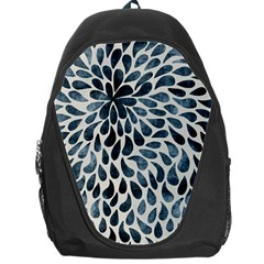 Abstract Flower Petals Floral Backpack Bag