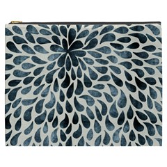 Abstract Flower Petals Floral Cosmetic Bag (XXXL)