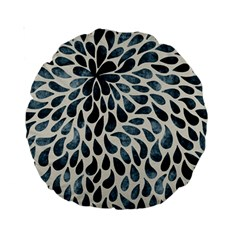 Abstract Flower Petals Floral Standard 15  Premium Round Cushions
