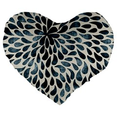 Abstract Flower Petals Floral Large 19  Premium Heart Shape Cushions