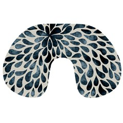 Abstract Flower Petals Floral Travel Neck Pillows