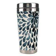 Abstract Flower Petals Floral Stainless Steel Travel Tumblers