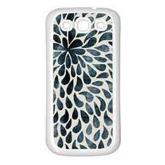 Abstract Flower Petals Floral Samsung Galaxy S3 Back Case (White)