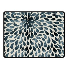 Abstract Flower Petals Floral Double Sided Fleece Blanket (Small)