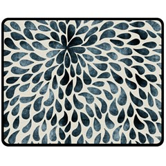 Abstract Flower Petals Floral Double Sided Fleece Blanket (medium)