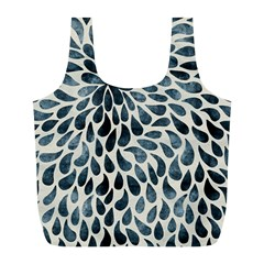 Abstract Flower Petals Floral Full Print Recycle Bags (L)