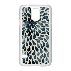 Abstract Flower Petals Floral Samsung Galaxy S5 Case (White)