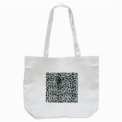 Abstract Flower Petals Floral Tote Bag (White)