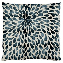 Abstract Flower Petals Floral Large Flano Cushion Case (Two Sides)