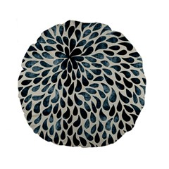 Abstract Flower Petals Floral Standard 15  Premium Flano Round Cushions