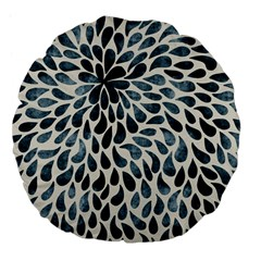 Abstract Flower Petals Floral Large 18  Premium Flano Round Cushions