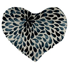 Abstract Flower Petals Floral Large 19  Premium Flano Heart Shape Cushions