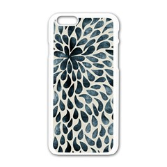 Abstract Flower Petals Floral Apple iPhone 6/6S White Enamel Case
