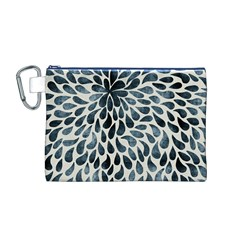 Abstract Flower Petals Floral Canvas Cosmetic Bag (M)