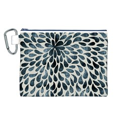 Abstract Flower Petals Floral Canvas Cosmetic Bag (L)