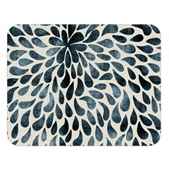 Abstract Flower Petals Floral Double Sided Flano Blanket (Large)