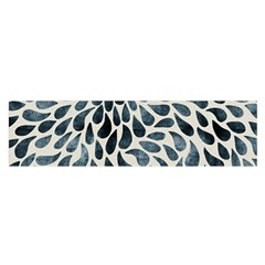 Abstract Flower Petals Floral Satin Scarf (Oblong)